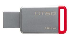 32GB Kingston USB 3.0 DT50 kovová červená