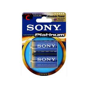 SONY Alkalické baterie AM2PTB2D, LR14/C, Stamina Platinum