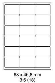 Samolepící ETIKETY 68x46,8 / A4 - 100listů