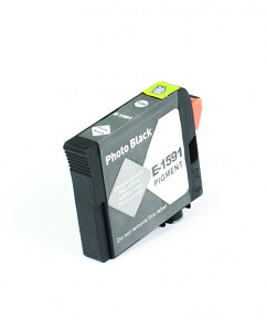 Kompatibilní inkoustová cartridge s: EPSON T1591 Photo Black (17ml) - C13T15914010