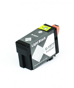 Kompatibilní inkoustová cartridge s: EPSON T1577 Light Black (30ml) - C13T15774010