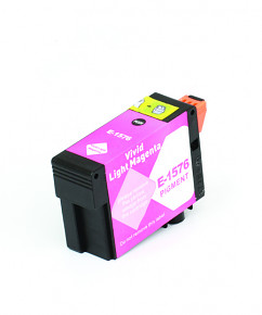 Kompatibilní inkoustová cartridge s: EPSON T1576 Vivid Light Magenta (30ml) - C13T15764010