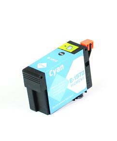 Kompatibilní inkoustová cartridge s: EPSON T1572 Cyan (30ml) - C13T15724010