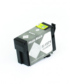 Kompatibilní inkoustová cartridge s: EPSON T1571 Photo Black (30ml) - C13T15714010