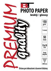 BT fotopapír lesklý 13x18 - 150g (50listů)