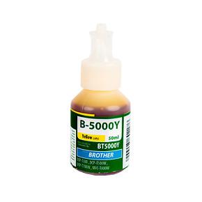 Kompatibilní lahvinka s inkoustem s: BROTHER BT-5000Y