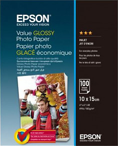 EPSON Value Glossy Photo Paper 10x15cm 100listů