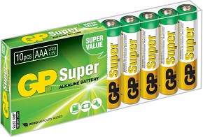 Baterie GP Super Alkaline 10ks AAA