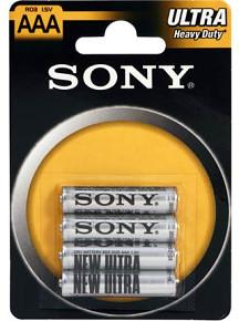 SONY Baterie tužkové R03NUB4A, 4ks R03/AAA ULTRA