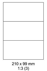 Samolepící ETIKETY 210x99mm / A4 - 100listů