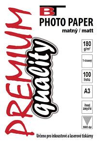 BT fotopapír matný A3 - 180g - 100listů
