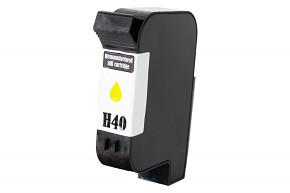 Kompatibilní inkoustová cartridge s: HP č.40 (51640) YELLOW