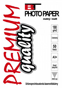 BT fotopapír oboustranný matný A3+ - 180g (50listů)