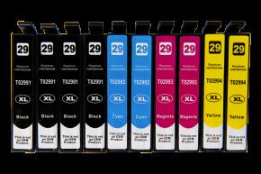 Sada 10ks kompatibilních cartridgí EPSON 4xT2991 / 2xT2992 / 2xT2993 / 2xT2994