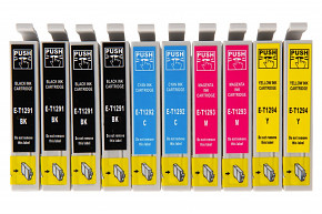 Sada 10ks kompatibilních cartridgí EPSON 4xT1291 / 2xT1292 / 2xT1293 / 2xT1294