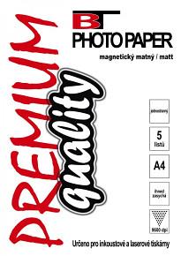BT magnetický fotopapír matný A4 (5listů)