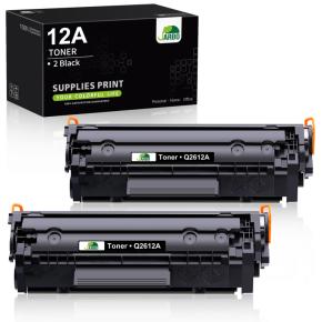 2ks kompatibilních laserových tonerů s: HP Q2612A Black (2.000str.)